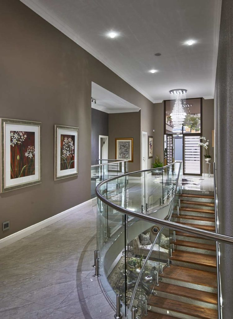 Steel image glass balustrades