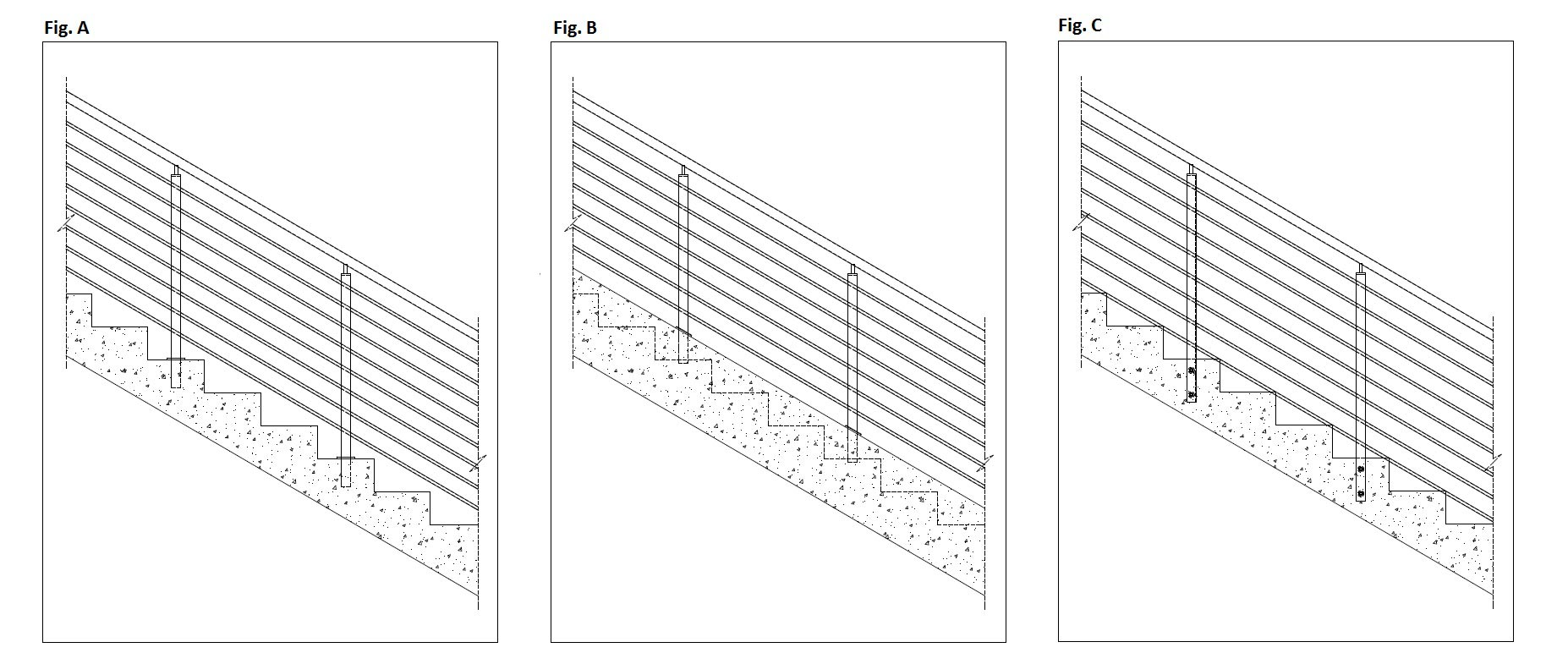black and white drawings of staircases