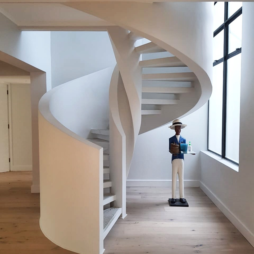concrete spiral stair for small space - 44+ Low Budget Concrete Stair Design For Small House Pics