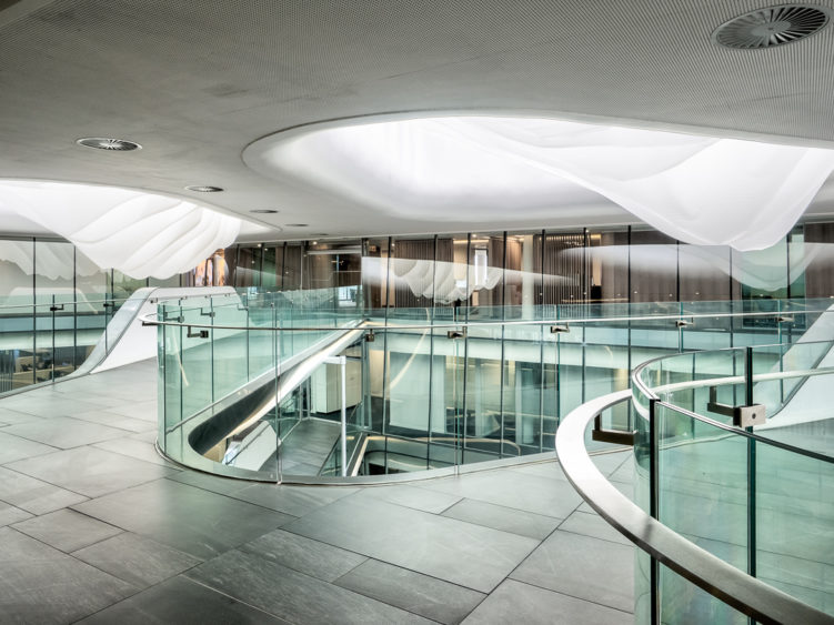 Sasol Hq glass balustrades